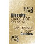 Biscuits chocolat noir et noix de coco